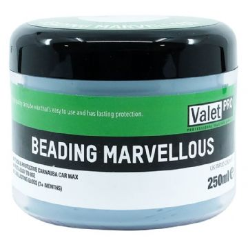 Valet Pro - Beading Marvellous, Carnauba Car Wax - 3 month protection - 250ml